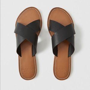 Strapy slide sandals